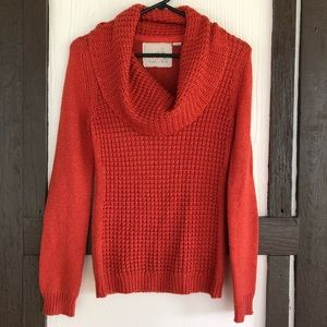 Angel of the North Waffle Knit Cowl Neck Sweater